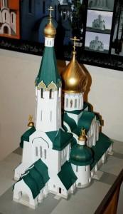 Макет храма Новомучеников и исповедников Российских п. Заречье